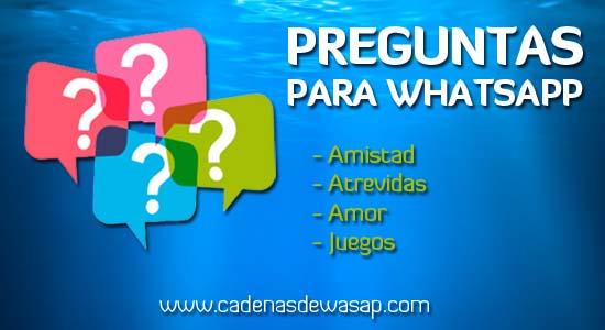 Cadenas de preguntas para WhatsApp