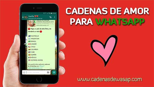 Cadenas para WhatsApp de amor