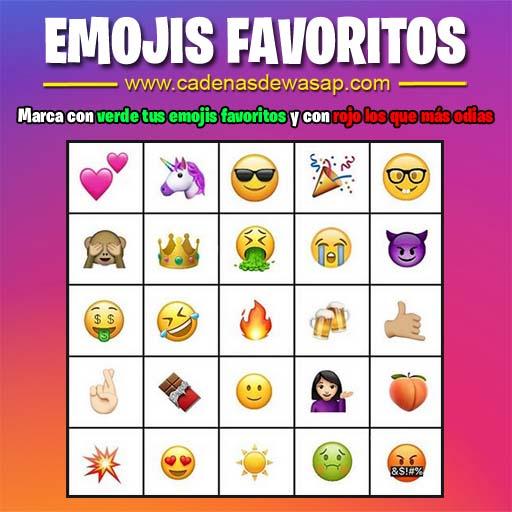 Cadena Publicacion instagram - emojis favoritos