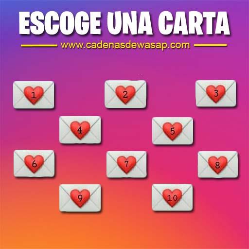Cadena Publicacion instagram - escoger carta
