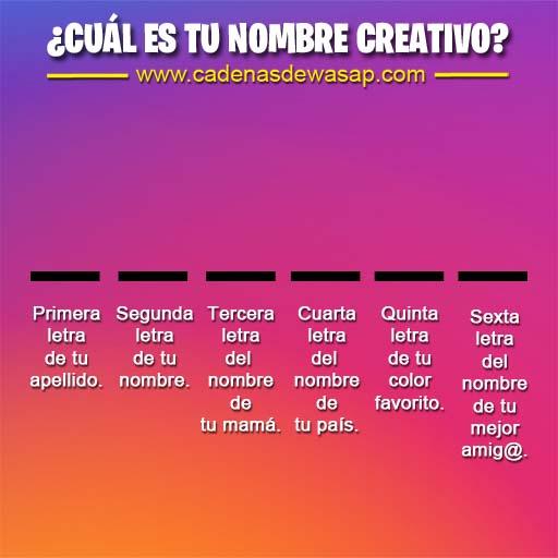 Cadena Publicacion instagram - nombre creativo